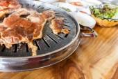 Meat on roaster — Stock Photo