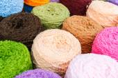 Kleurrijke breien wol — Stockfoto