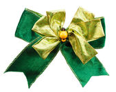 Green color bow — Stock Photo