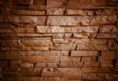 Strange brickwall (Vignette) — Stock Photo