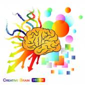 Creative , Abstract Brain — Stock Vector