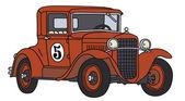 Vintage racing car — Stock Vector
