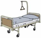 Hospital bed — Stock Vector