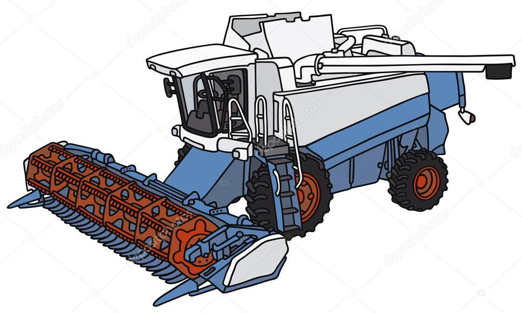 Cosechadora vector de stock 2v 54768463 - Dessin moissonneuse ...