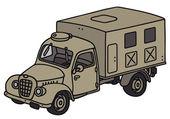 Vieux camion militaire — Vecteur