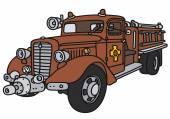 Stary strażacki — Wektor stockowy