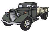 Vecchio camion — Vettoriale Stock