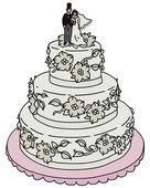 Bride cake — Stock Vector