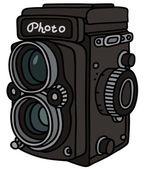 Retro photographic camera — Stock Vector