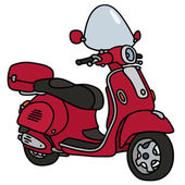 Red scooter — Stock Vector
