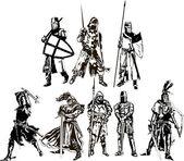 Ridders — Stockvector