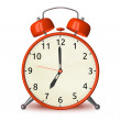 Red alarm clock isolated — Stock Photo #67254373