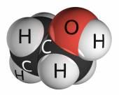 Ethanol molecule isolated on white — Stock Photo