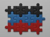 Donetsk People's Republic flag — Stock Photo