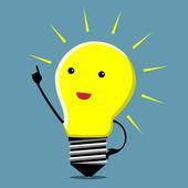Light bulb character, insight — Stock Vector