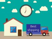 Fast accurate shipping — Stock Vector