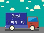 Best shipping concept — Stock Vector