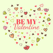 Valentine's Day Background of Hearts — Стоковое фото