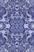 Floral pattern on the fabric, repeating fragments — Stock Photo