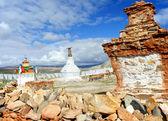 Ancient Buddhist stupa in Tibet — Стоковое фото