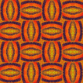 Abstract pattern from crocheted parts of the Mat — Stock Photo