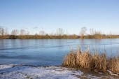 Frozen Lake Kings Village Landscape — Stock Photo