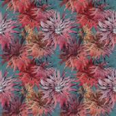 Dahlias Seamless Pattern — Stock Photo