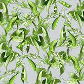 Peas Seamless Pattern — Stock Photo