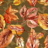 Höstlöv seamless mönster — Stockfoto