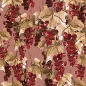 Red Currant Seamless Pattern — Stock Photo