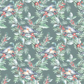 Seamless Pattern with Bird — Stock Photo