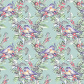 Seamless Pattern with Bird — Stock Photo