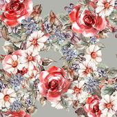 Dessin sans couture fleurs — Photo