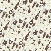 Seamless Pattern of Glasses and Bottles — Stock fotografie