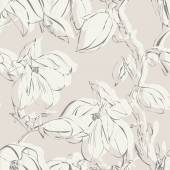Magnolia Seamless Pattern — Stock Photo