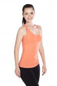 Fitness žena portrét izolovaných na bílém pozadí. — Stock fotografie