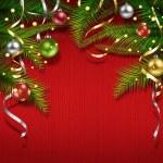 Frame, Christmas tree, Christmas balls — Stock Photo #57452733