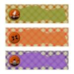 Halloween banderoller uppsättningar. orange grön och lila rutig bakgrund — Stockfoto #53002987