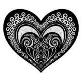 Deco Abstract Heart. Design element — Stock Vector