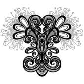 Deko abstrakt symmetrischen vektorelement — Stockvektor