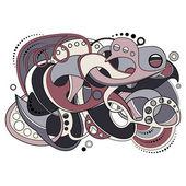 цветной абстрактный фон. рука нарисованные текстуры — Cтоковый вектор