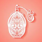 Decorative Ornate Perfume — Stock Vector