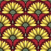 Seamless Floral Pattern (Vector) — Stock Vector