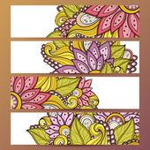 Vektor-Set floral Banner — Stockvektor