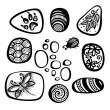 Vector Set of Ornate Pebbles — Stock Vector #54970313