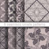 Ornate Patterns Set — Stock Vector