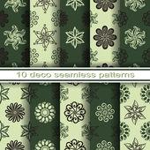 Floral Patterns Set — Stock Vector