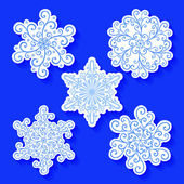 Deco Small Snowflakes — Stock Vector