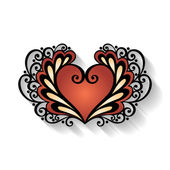 Deco Floral Heart — Stockvector