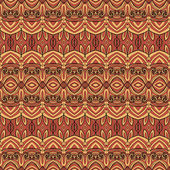 Seamless Abstract Tribal Pattern — Stock Vector